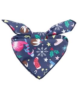 foulard de noel bleu